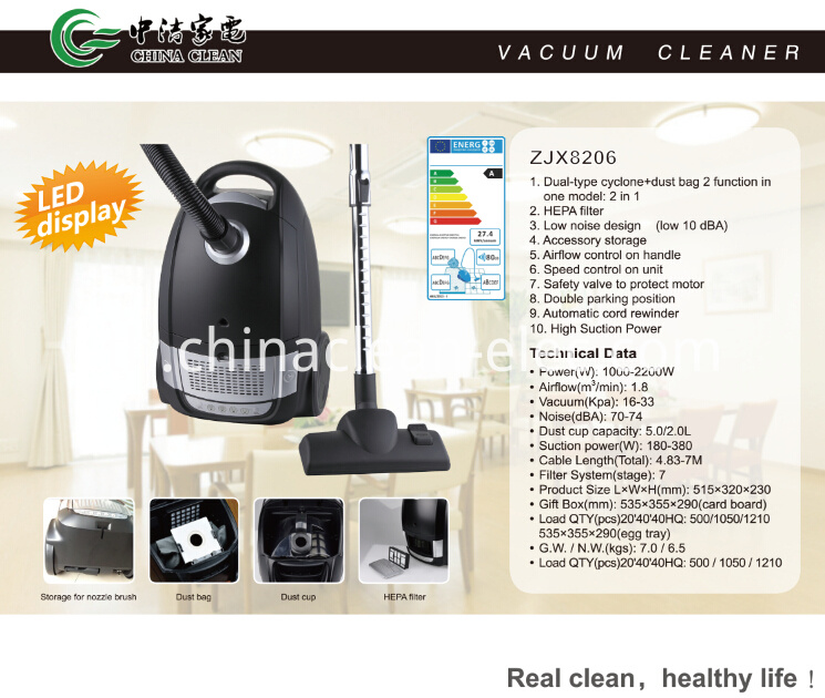 low noise vacuum cleaner